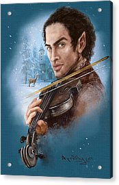 Elandorr Playing Violin Acrylic Print