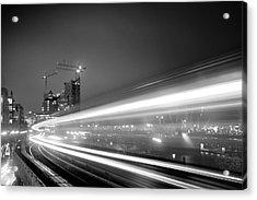 Elbphilharmonie And Cap San Diego Acrylic Print by Marc Huebner