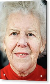 Elderly Woman Smiling Acrylic Print by Cristina Pedrazzini/science Photo Library