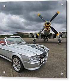 Eleanor Mustang With P51 Acrylic Print by Gill Billington
