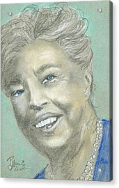 Eleanor Roosevelt Acrylic Print by P J Lewis