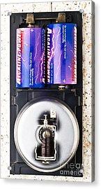 Electric Bell Mechanism Acrylic Print by Martyn F. Chillmaid