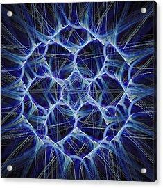 Electric Blue Acrylic Print by Anastasiya Malakhova
