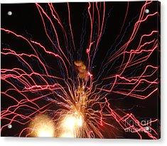 Electric City Fireworks 2013 Xv Acrylic Print by Daniel Henning