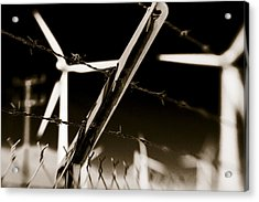 Electric Fence Duo Tone Acrylic Print
