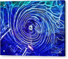 Electric Glass Light 4 Acrylic Print by Todd Breitling