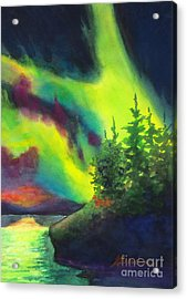 Electric Green In The Sky 2 Acrylic Print