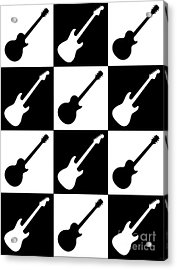 Electric Guitar Checkerboard Acrylic Print