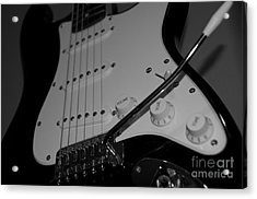 Electric Guitar  Acrylic Print by Sarah Mullin