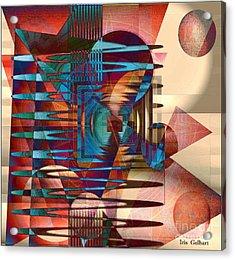 Electric Acrylic Print by Iris Gelbart