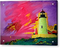 Electric Lighthouse Acrylic Print