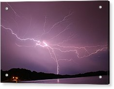Electric Lightning Sky  Acrylic Print