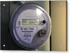 Acrylic Print featuring the photograph Electric Meter by Richard Stephen