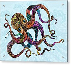 Electric Octopus Acrylic Print