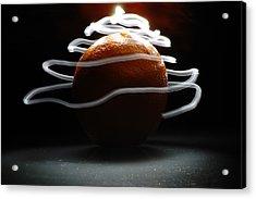 Electric Orange Acrylic Print by Michael Donahue