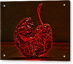 Electric Red Pepper Acrylic Print