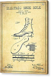Electric Shoe Sole Patent From 1893 - Vintage Acrylic Print