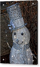 Electric Snowman Acrylic Print