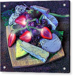 Electric Strawberries Acrylic Print by ARTography by Pamela Smale Williams