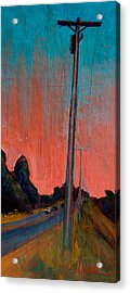Electric Sunset Acrylic Print by Athena  Mantle