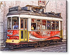 Electric Trolly Of Lisbon Acrylic Print