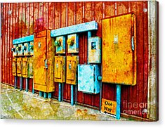 Electrical Boxes Iv Acrylic Print