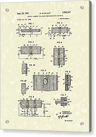 Electrical Circuit 1951 Patent Art Acrylic Print by Prior Art Design