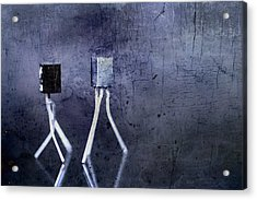 Electrical Circuits In Blue Tone Acrylic Print by Tommytechno Sweden