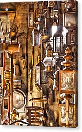 Electrician - Let There Be Light Acrylic Print by Mike Savad