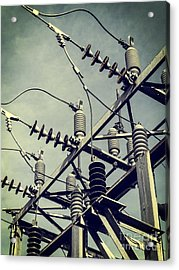 Electricity Acrylic Print by Edward Fielding
