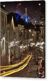 Electrified Boston Acrylic Print by Joann Vitali