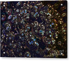 Electrified Neon Bubbles Acrylic Print