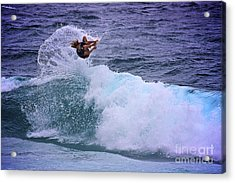 Electrifying Surfer Acrylic Print by Heng Tan