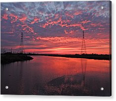 Electrifying Towers Acrylic Print by Eve Spring