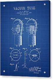 Electrode Vacuum Tube Patent From 1927 - Blueprint Acrylic Print