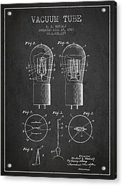 Electrode Vacuum Tube Patent From 1927 - Charcoal Acrylic Print