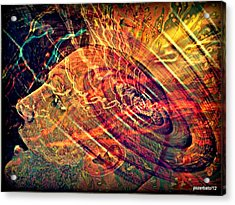 Electromagnetic Waves Acrylic Print by Paulo Zerbato