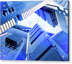 Electronic Components Acrylic Print