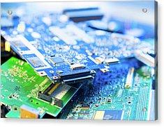 Electronic Printed Circuit Boards Acrylic Print by Wladimir Bulgar