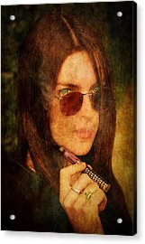 Electronic Smoking Acrylic Print by Loriental Photography