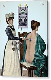 Electrotherapy, Faradization, 1900 Acrylic Print