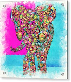 Elefantos - Ptw01a Acrylic Print by Variance Collections
