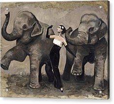 Elegance And Elephants Acrylic Print