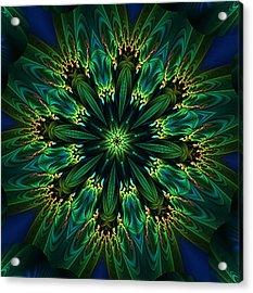 Elegance Green Kaleidoscope Acrylic Print