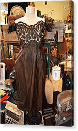 Elegance In Brown Acrylic Print by Cindy Nunn