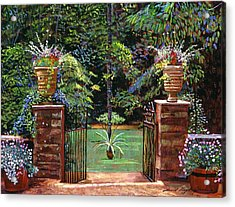 Elegant English Garden Acrylic Print by David Lloyd Glover