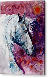 Elegant Horse Acrylic Print by Mary Armstrong