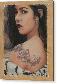 Elegant Ink Acrylic Print by Sciandra