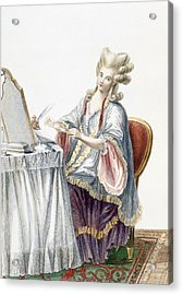 Elegant Lady At Her Dressing Table Acrylic Print by Pierre Thomas Le Clerc