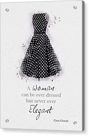 Elegant Acrylic Print by Rebecca Jenkins